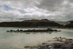 Blaue Lagune in Island stockbild