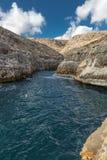 Blaue Lagune, Malta Stockbild