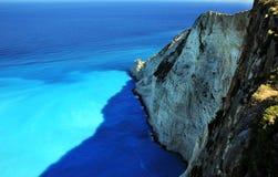 Blaue Lagune von Navagio-Strand Stockbild