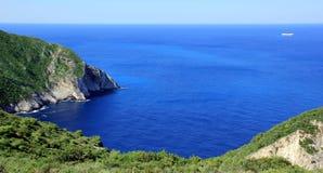 Blaue Lagune von Navagio-Strand Stockfotografie
