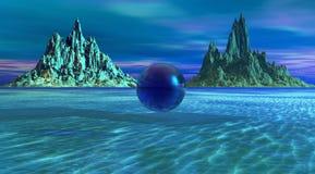 Blaue Landschaft stock abbildung