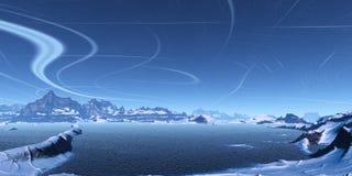 Blaue Landschaft vektor abbildung