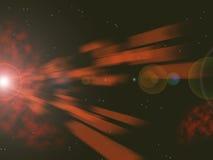 Blaue Laser-Explosion Stockbild