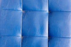 Blaue lederne Fliesenbeschaffenheit Stockbilder