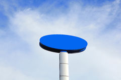Blaue leere Anschlagtafel Lizenzfreies Stockfoto