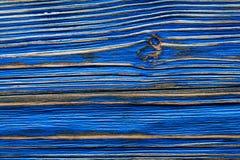 Blaue leere Weinleseholzoberfläche Lizenzfreie Stockfotografie