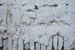 Blaue Lehmziegelmauer Stockfotografie