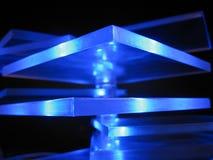Blaue Leuchte Stockfoto