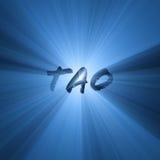 Blaue Leuchteaufflackern der Tao-Zeichen Lizenzfreies Stockbild