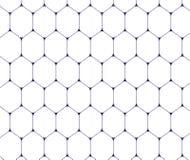 Blaue Linie Hexagonbienenwaben-Musterhintergrund Stockfotografie