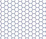 Blaue Linie Hexagonbienenwabenmuster Lizenzfreie Stockfotos