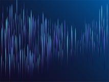 Blaue Linien Stromsichtoptiktechnologie Digital lizenzfreie stockfotografie