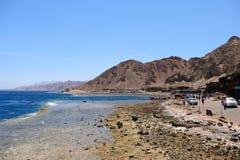 Blaue Lochküste auf Rotem Meer, Sinai lizenzfreies stockfoto