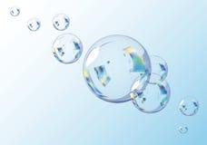 Blaue Luftblasen. Ersteigbare Abbildung des VektorEPS10. Stockfotografie