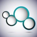 Blaue Luftblasen mit Platz für Text Lizenzfreies Stockfoto