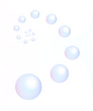 Blaue Luftblasen- und Kreiskugel stockbild