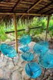 Blaue Möbel in Mesa de Los Santos, Kolumbien lizenzfreies stockbild