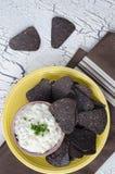 Blaue Mais-Tortilla-Chips Lizenzfreies Stockbild