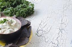 Blaue Mais-Tortilla-Chips Lizenzfreies Stockfoto