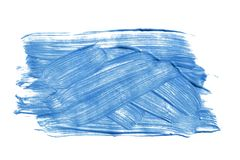 Blaue Malerei lokalisiert lizenzfreies stockfoto