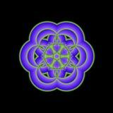 Blaue Mandala-Abbildung Lizenzfreies Stockbild