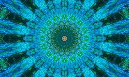 Blaue Mandala Kunst voll von den kleinen Details stock abbildung