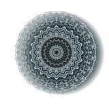 Blaue Mandala Rundes arabisches exotisches Design Stockfoto