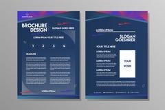 Blaue Marinezusammenfassungs-Broschürenschablone für Geschäfts-Flieger oder Sport Leflet stock abbildung
