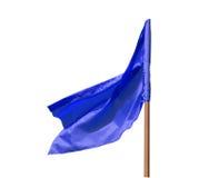 Blaue Markierungsfahne Stockfotografie