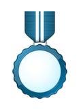 Blaue Medaille Lizenzfreies Stockbild