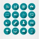 Blaue Mediaikonen Lizenzfreies Stockbild