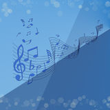 Blaue Melodie stock abbildung