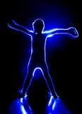 Blaue menschliche Figur Lizenzfreies Stockfoto