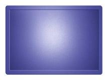 Blaue metallische Platte stock abbildung