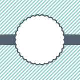 Blaue Minze und weiße Schablonenkarte vektor abbildung