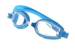 Blaue moderne Swimschutzbrillen Lizenzfreie Stockbilder