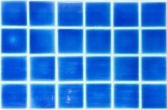 Blaue Mosaikfliesen für Hintergrund Lizenzfreies Stockfoto