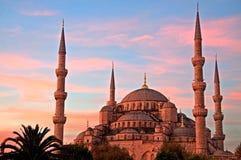 Blaue Moschee bei Sonnenaufgang, Istanbul Lizenzfreies Stockfoto