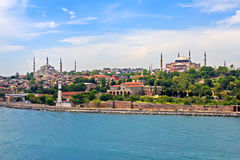 Blaue Moschee, Hagia Sophia und Istanbul Stockfotos