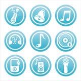 blaue musikalische Hilfsmittelzeichen lizenzfreie abbildung