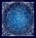 Blaue nördliche Konstellations-Illustration Lizenzfreies Stockbild