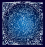 Blaue nördliche Konstellations-Illustration stock abbildung