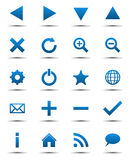 Blaue Navigations-Web-Ikonen Lizenzfreies Stockbild