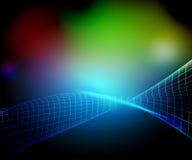 Blaue Nettozusammenfassung Stockfoto
