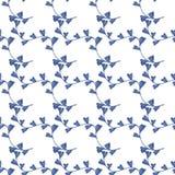Blaue Niederlassungen mit den Blumenknospen Lizenzfreie Stockfotos