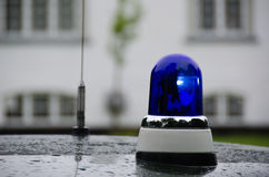 Blaue Notfahrzeugbeleuchtung Stockbild