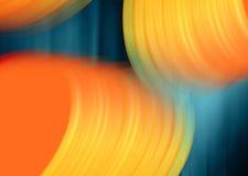 Blaue Orange des Hintergrundes lizenzfreie abbildung
