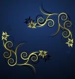 Blaue ornbamental Dekoration lizenzfreie abbildung