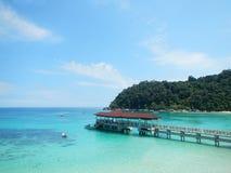 Blaue Ozean-Ferienzeit Stockbild