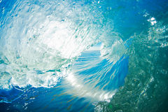 Blaue Ozean-Welle stockfoto